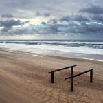 Sandy beach at the sunset. Nature and space by German photographer Thomas Zimmer