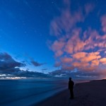 Ultra violet sky. Nature and space by German photographer Thomas Zimmer