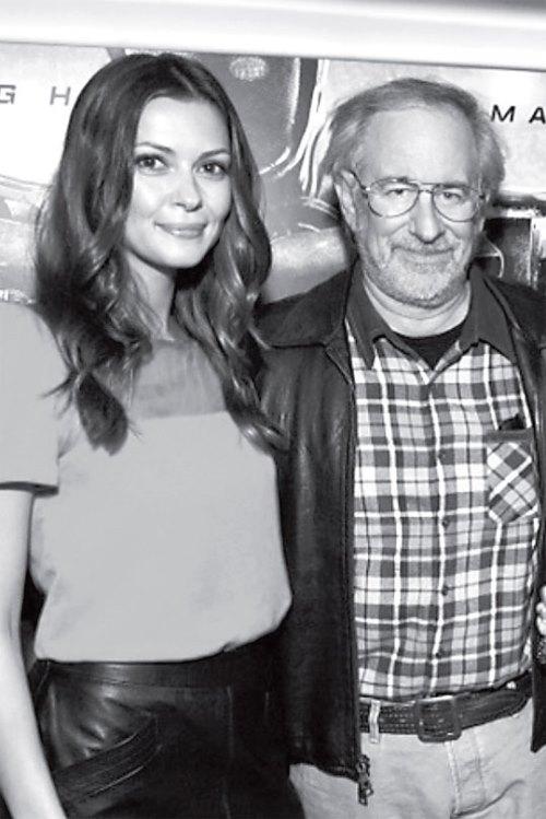 Olga Fonda and Steven Spielberg