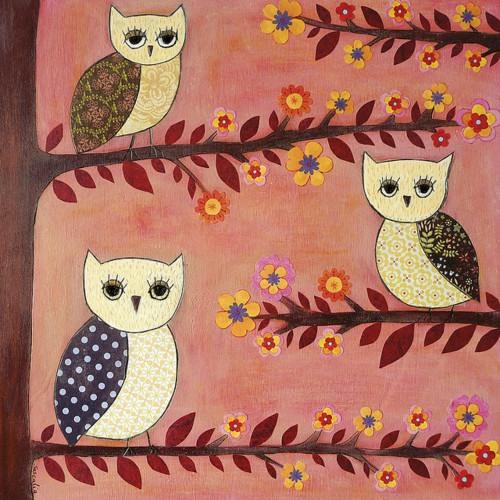 Owl by American artist Karla Gerard