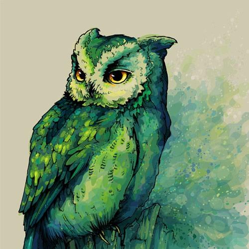 Owl by Teagan White, freelance designer and illustrator from Chicago