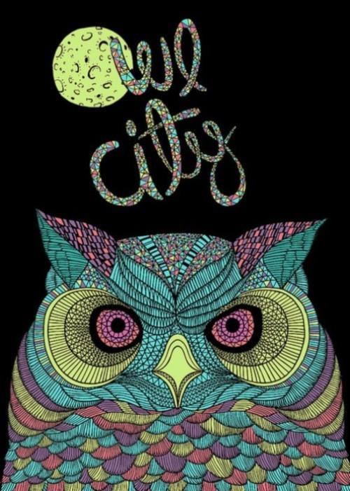Owl, illustration by Alejandro Giraldo, artist from Medellin, Colombia