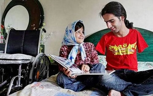 Married couple with disabilities Ahmed and Fatima