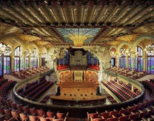 Palau de Musica Catalana, Barcelona, Spain. Stunning Opera Houses