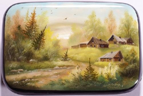 Traditional Russian folk art - Palekh miniature painting