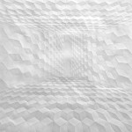 Cubic patterns. Paper art by German artist Simon Schubert