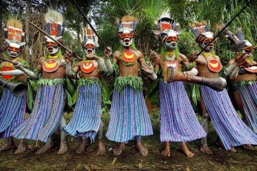 Papua New Guinea. Photo by English traveling photographer and filmmaker Timothy Allen