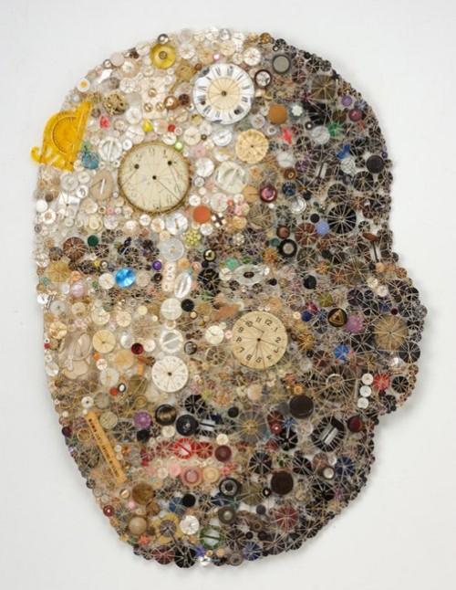 Passage. Artwork of buttons by Lisa Kokin