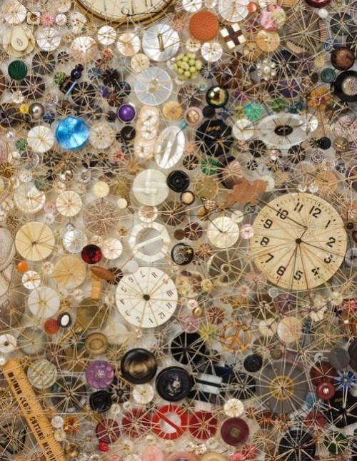 Passage (detail). Artwork of buttons by Lisa Kokin