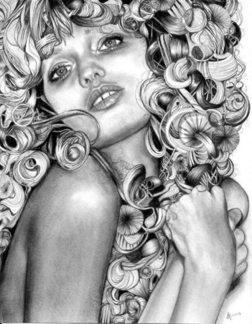Pencil drawing by British artist Abbey Watkins