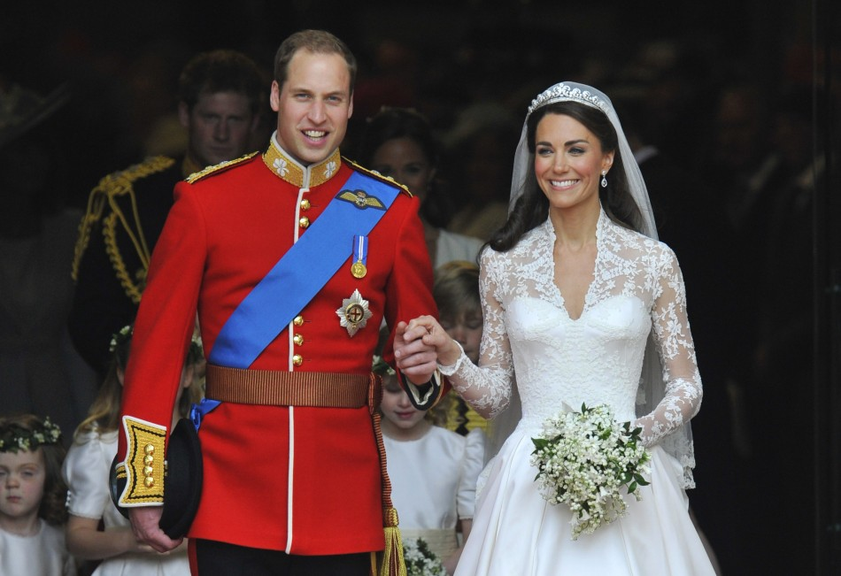 Happy Anniversary, Will and Kate! Mimic this princess sttyle with sleeved wedding dresses from Maggie Sottero, Sottero and Midgley and Rebecca Ingram!