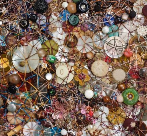Proximity (detail). Artwork of buttons by Lisa Kokin