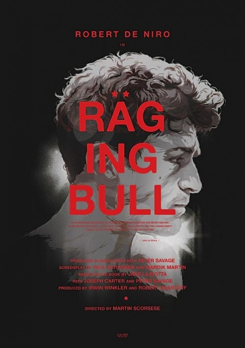 Raging Bull. Movie posters by Polish illustrator