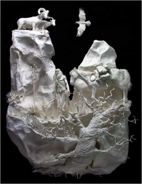Replenishment. Paper Sculpture by American artists Allen and Patty Eckman