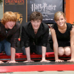 Rupert, Daniel and Emma attend the Harry Potter cast 'Hand, Foot and Wand-Print' ceremony held at Grauman's Chinese Theater in 2007