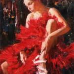 Russian ballet 21st century, painting by Russian realist artist Anna Vinogradova
