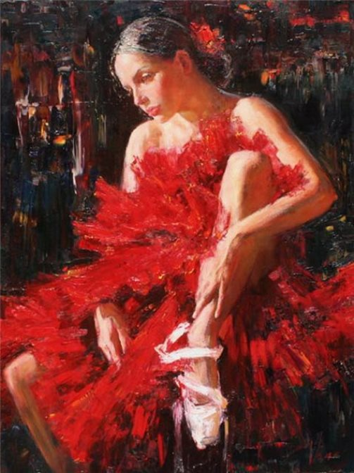 Ballet in paintings. Russian ballet 21st century, painting by Russian realist artist Anna Vinogradova