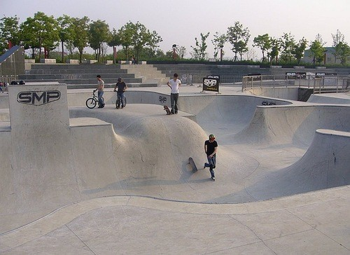 Roller coasters all over the world. SMP skate park