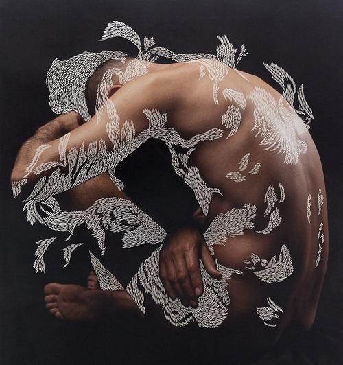 Scalpel work by Scottish artist Georgia Russell