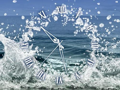 Sea water clock