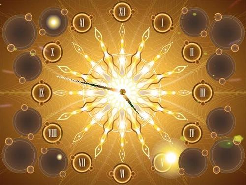 Shiny star clock