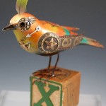 Songbird sculpture by American artists Jim and Tori Mullan