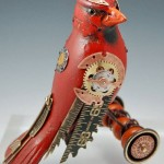 Songbird sculpture by American artists Tori and Jim birds