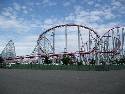 Roller coasters all over the world. Steel Dragon 2000, the longest roller coaster in the world