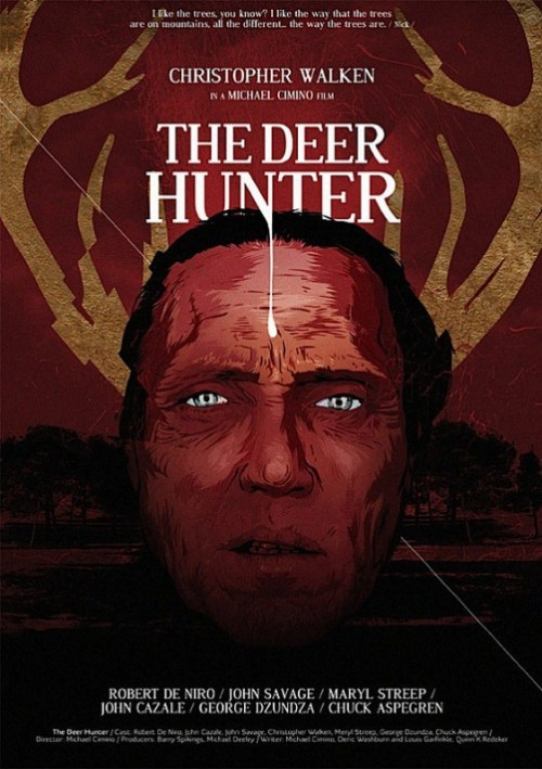 The Deer Hunter. Movie posters by Polish illustrator