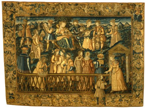 The Garden of False Learning, ca. 1550–80. France. Hanging, wool and silk on canvas
