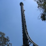 The Tower of Terror II, steel shuttle roller coaster located at the Dreamworld amusement park on the Gold Coast, Queensland, Australia