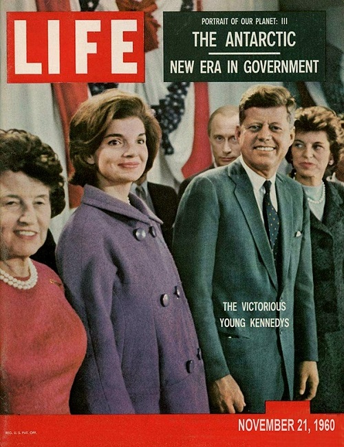 The Victorious Young Kennedys. November 21, 1960 (photo-shop insert - Vladimir Putin)