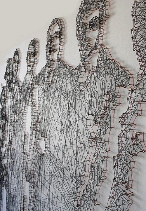 Thread and Nail Portraits by L-ABLE design studio. Artists Pamela Campagna and Thomas Scheiderbauer