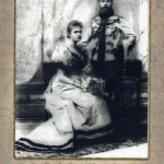 Tsesarevich Nicholai Alexandrovich with his bride Alix of Hesse