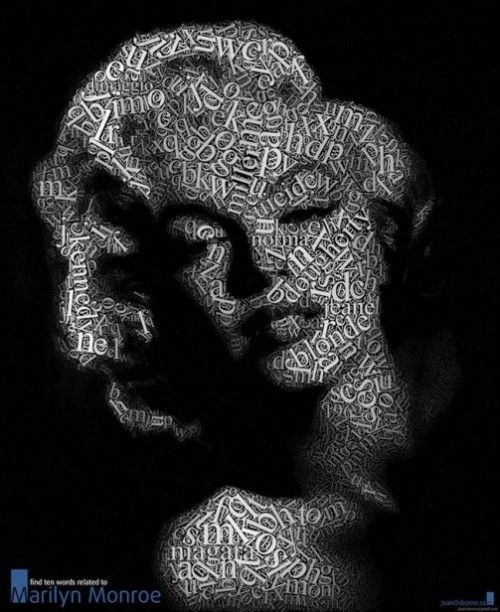 Marilyn Monroe Typographic Portrait