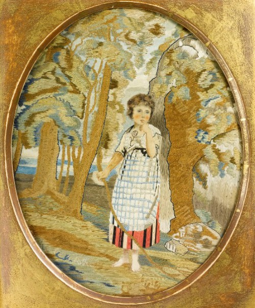 Antique European embroidery
