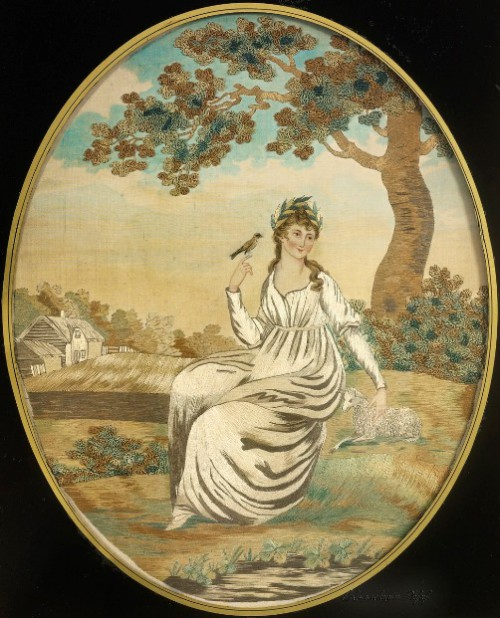 Vintage embroidery 18-19 century