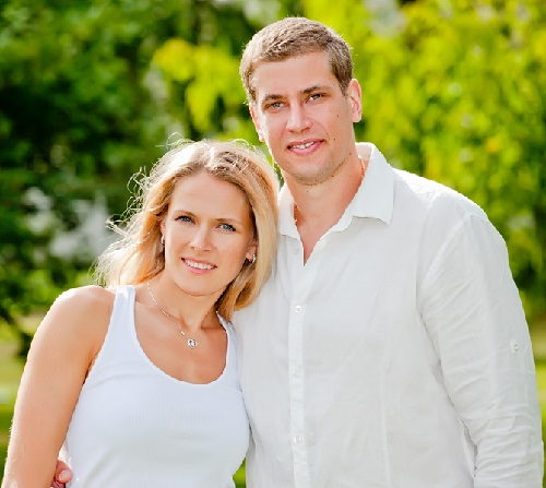Volleyball star Lesya Makhno and handball star Egor Evdokimov