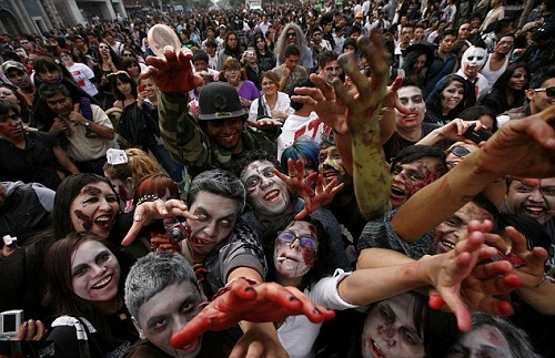 Zombies march, Mexico City
