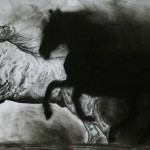 Charcoal drawings by Polish self-taught artist Kate Cain