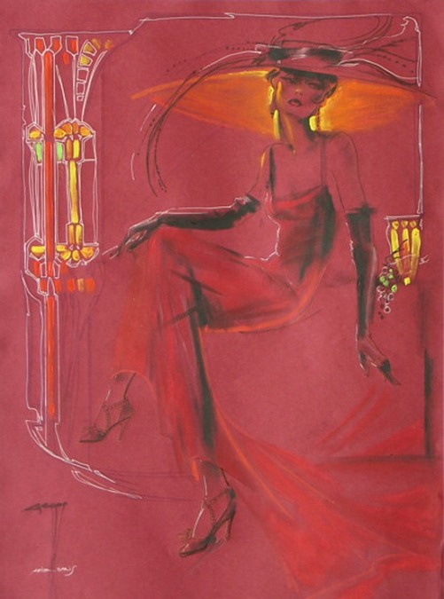 Lady in red by Nady Gepp