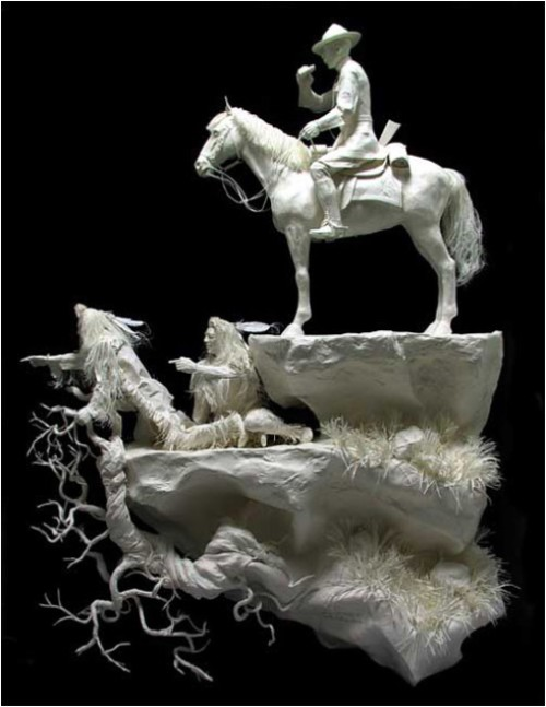 north west trackers. Paper Sculpture by American artists Allen and Patty Eckman