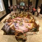 Asphalt Renaissance 3D illusion by American artist Kurt Wenner
