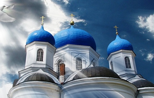 Sapphire color of domes