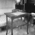 A table with an inkstand. Russian Emperors train