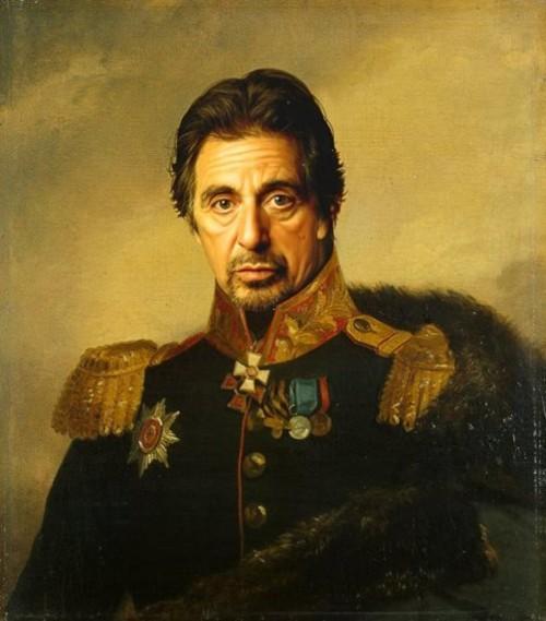 Hollywood Celebrities as Russian Generals. Al Pacino