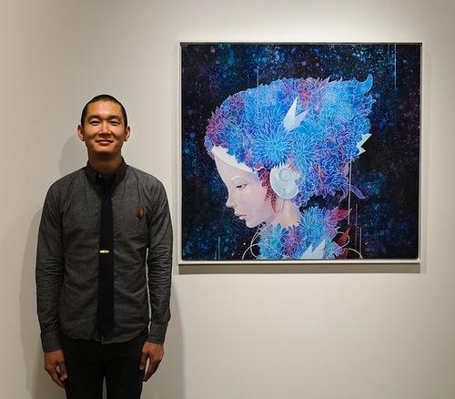 Painting by Japanese artist Yoskay Yamamoto