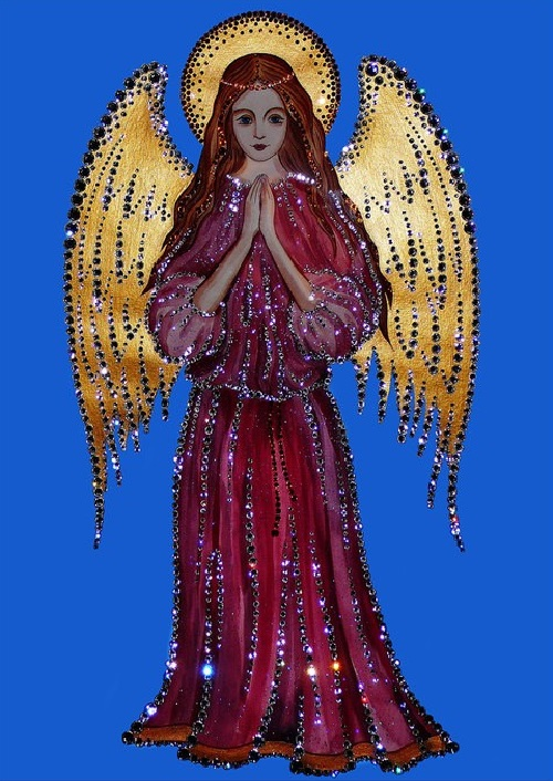 Angel. Swarovski crystals pictures