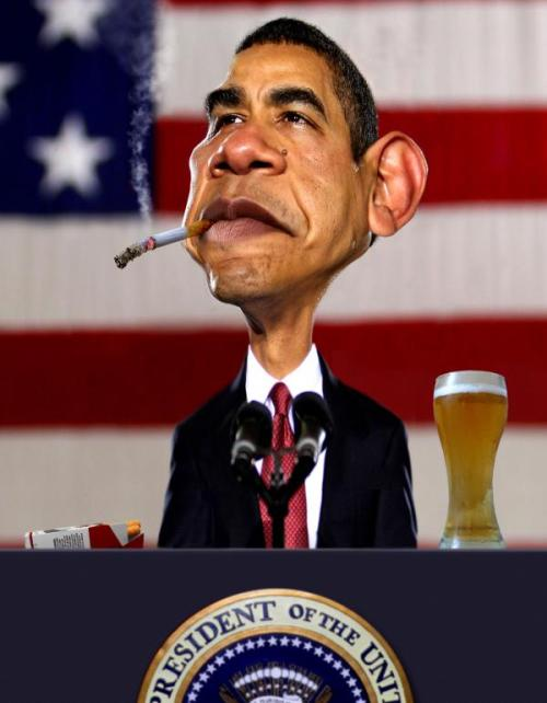 Barack Hussein Obama. Caricatures by American artist Rodney Pike