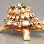 Tortoise jewellery box